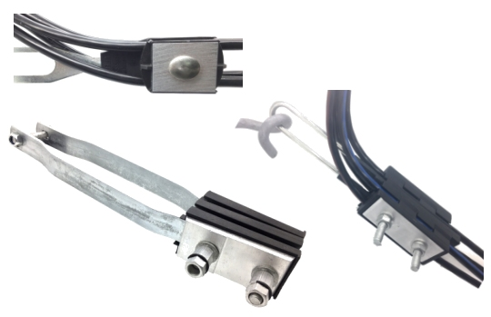 Multi conductors anchoring clamps for ABC aerial bundled cables
