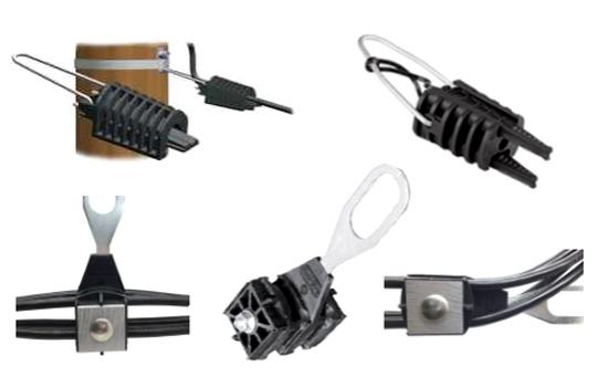 Pinces d'ancrage branchement type EDF PA25 pour cables isolés